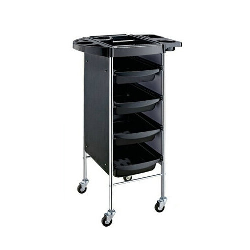 Salon Trolley 4 Tier Storage Rolling Carts
