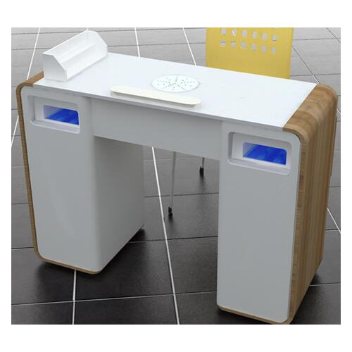 Modern Manicure Table Nail Station With Drawers Nail
