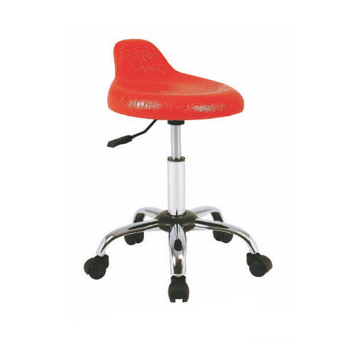 Adjustable beauty salon task chairs / hydraulic styling chair master saddle stool