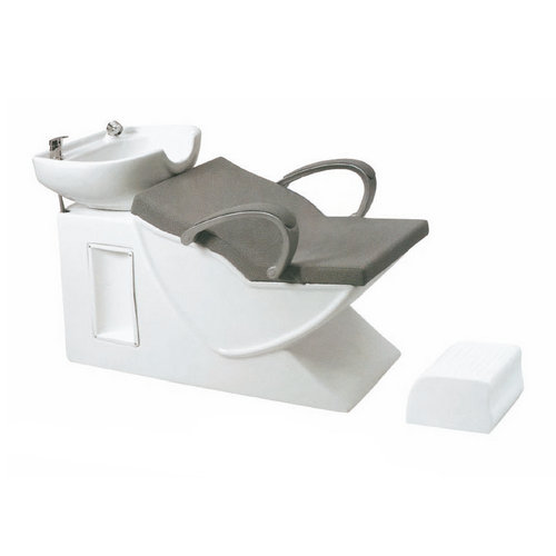 Leather salon furniture shampoo bed / hair washing units with footrest