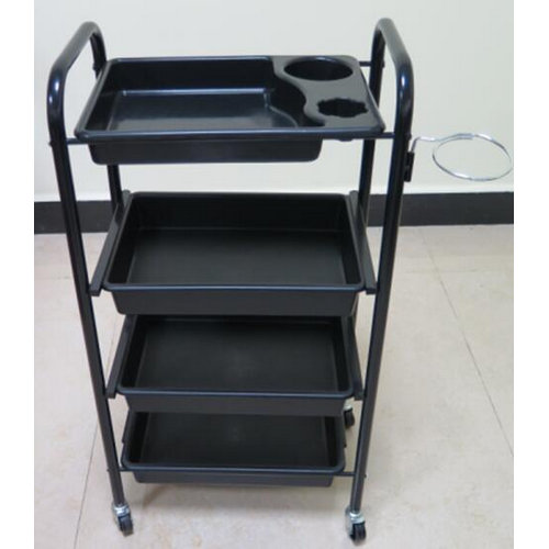 cheap black hair salon trolley / beauty salon tools cart / hair salon equipment