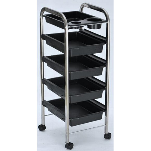 professional salon furniture / plastic beauty tool cart / barber shop trolley with trays