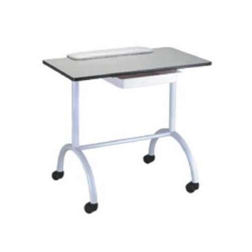 Cheap White Laminated Top Manicure Nail Table with Drawer & Salon Station Storage Portable