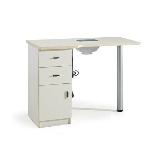 modern manicure table nail station with drawers / nail dryer station