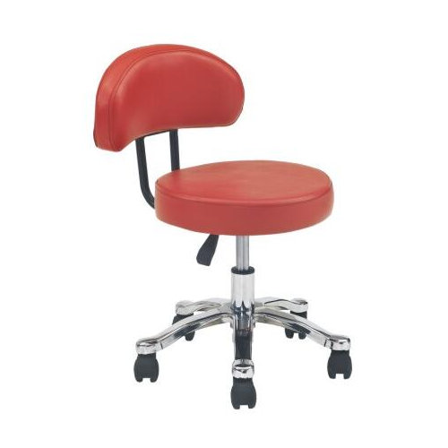 Hot Selling Red Leather Ergonomic Barber Shop Master Chair / Salon Barber Saddle Stools