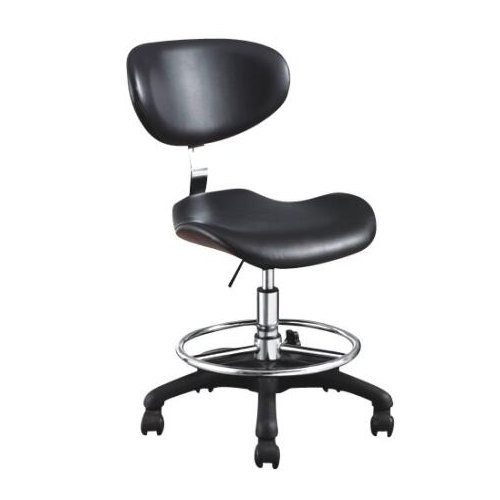Black leather beauty salon master saddle stools / barber shop all-purpose chairs