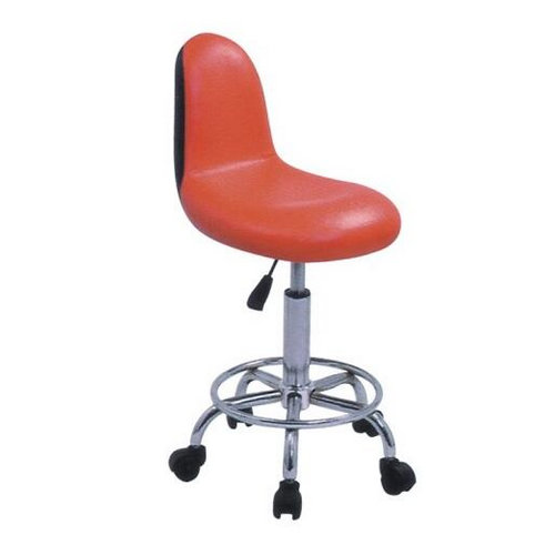 High quality salon furniture round red leather salon master barber chair stool for sale