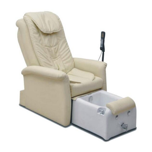 white comfortable durable foot spa bath pedicure chair / whirlpool spa massage chair