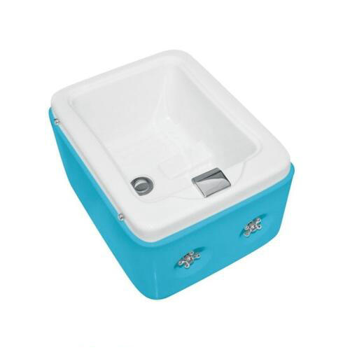 Foshan Small Deep White Acrylic Square Pedicure Foot Soak Tub For Massage