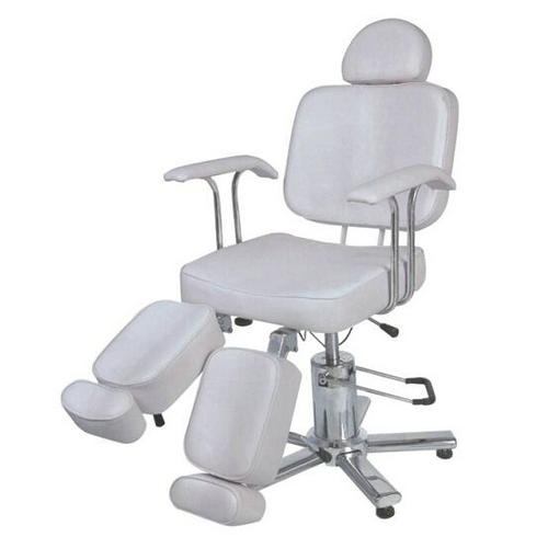 Cheap white leather portable massage table / hydraulic facial chairs bed