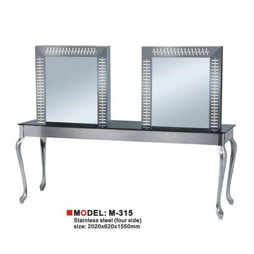beauty barber equipment hair salon mirror European style double LED fashion mirror station