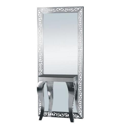 Fashion professional salon furniture lighted barber stations / hairdressing mirror station