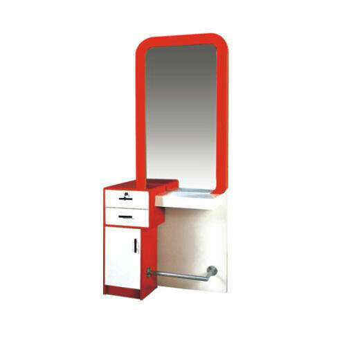 High quality salon furniture / salon styling mirror station / barber mirror station with drawer in China