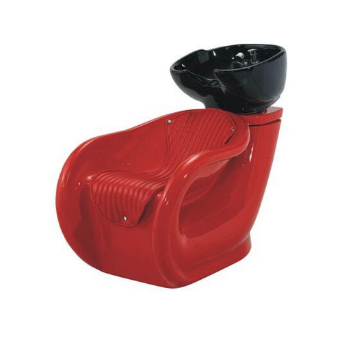 Hot sale red women hair shampoo unit / salon shampoo stations / shampoo bowl backwash units