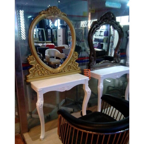 Popular Classic Single Side Gold Barber Station Hairdressing Mirrors Stations Makeup Mirror