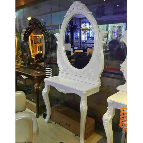 european style beauty salon mirror station salon styling mirror made in China