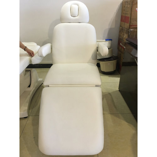 Portable White Electric Beauty Bed With Motors For Facial Salon Equipments Massage Chair