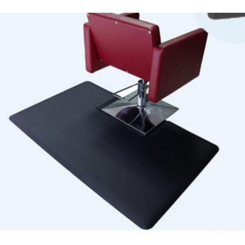 Cheap modern durable barber chair beauty furniture PU salon mat / square base chair mats