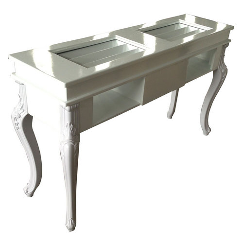 European style manicure double nail table salon desks