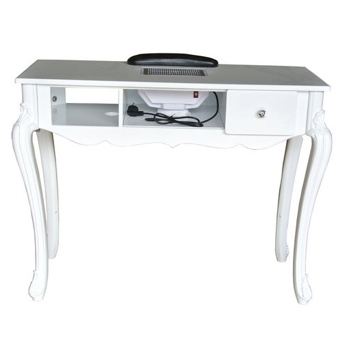 Europe luxury white vacuum suction fan nail manicure table desk