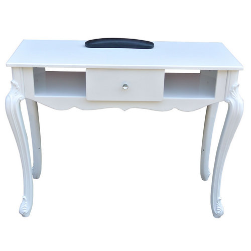 Europe white nail salon furniture modern manicure table in China