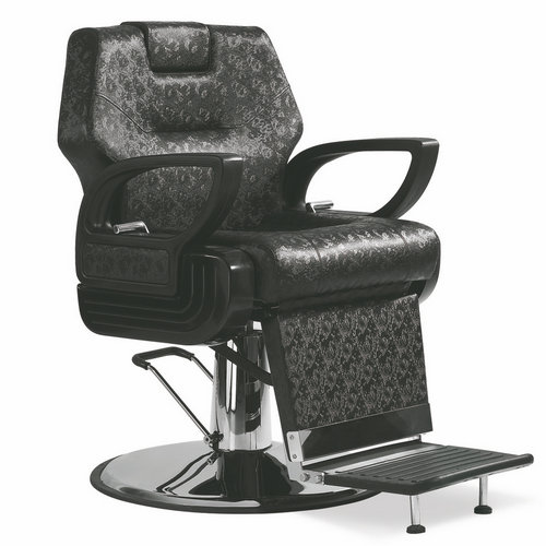 High back Bronze salon styling equipment barber shop reclining men hair cutting chairs