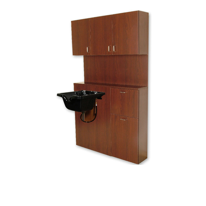 Wood Salon Barber Shampoo Bulkhead Wet Station
