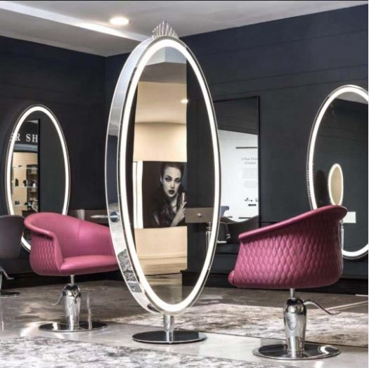 beauty glass styling station salon makeup mirror