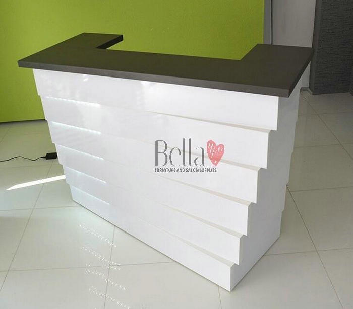 Luxury nail beauty table station salon reception front desk checkout counter barber furniture